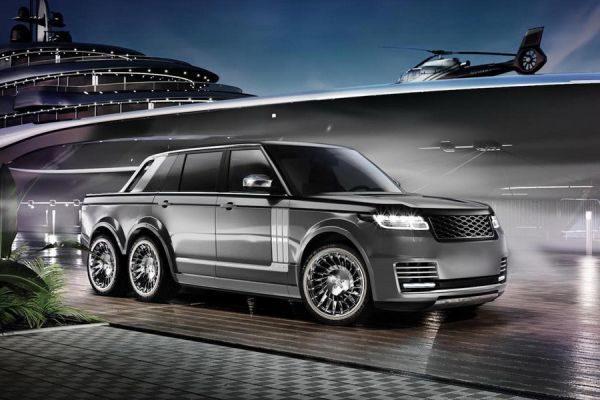 Range Rover got 6-wheel tuning